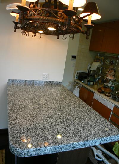 天然石キッチンカウンター