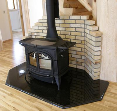 石の薪ストーブ炉台