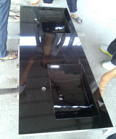 御影石の洗面台