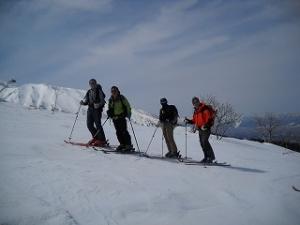 北海道、十勝、三段山を滑る。