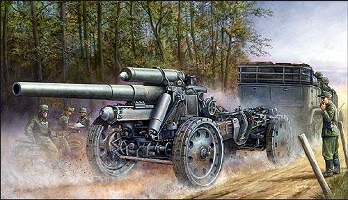 【ご予約品0711B】 1/ 35 ドイツsFH18 15cm榴弾砲 【トランペッター02304】