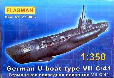 フラッグマン 1/350 Uボート7Cシュノーケル搭載型