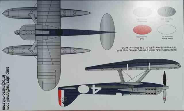 1/72 スーパーマリン S-5 シュナイダートロフィーレーサー/AMP72009/
