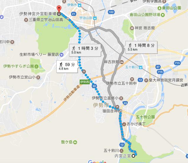 内宮への地図