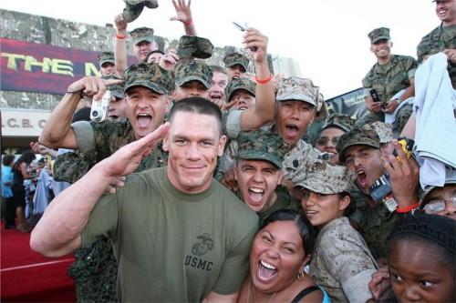 WWEの噂・裏技・裏話_米軍軍人とジョン・シナ