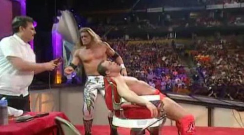 WWEの噂・裏技・裏話_エッジ対カート・アングル髪切りマッチ1