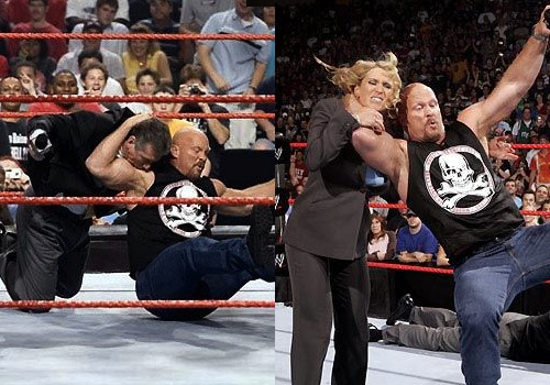 WWEの噂・裏技・裏話_マクマホン一家にスタナーを浴びせるストーンコールド