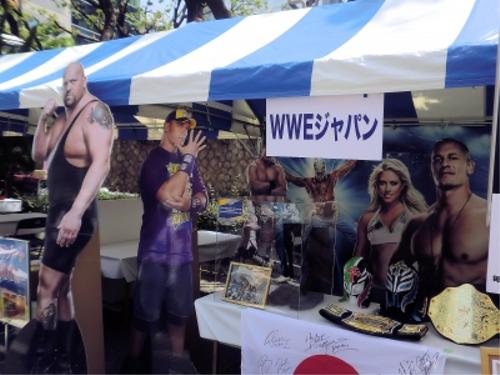 WWEの噂・裏技・裏話_神戸まつりのWWEブース