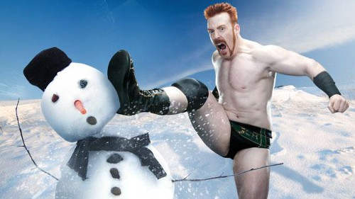 WWEの噂・裏技・裏話_シェーマスが雪だるまにブローグキック