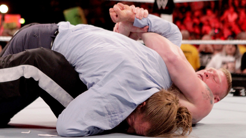 WWEの噂・裏技・裏話_ブロック・レスナーのフィニッシュムーブ「キムラロック」の名前の由来