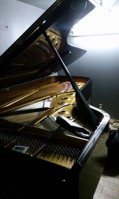 ピアノ保管室で調律