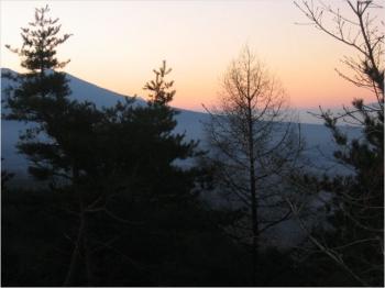 車山高原の夜明け、晩秋