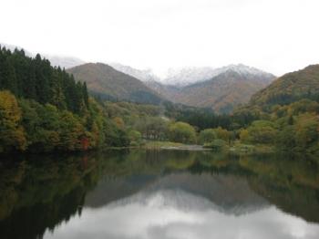 大源太湖,大源太山を望む
