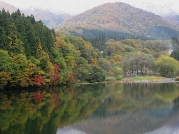 大源太山の手前の山,紅葉