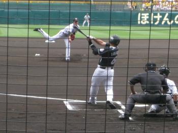 藤浪投手,バッター井口選手