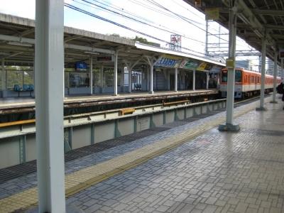 阪神電車武庫川駅ホーム
