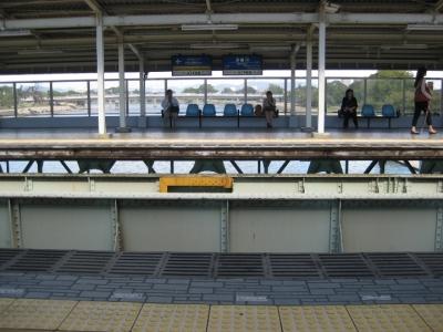 阪神電車武庫川駅上りホーム