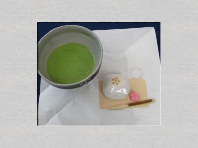 野点のお抹茶とお菓子