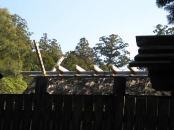 旧御正宮東宝殿屋根