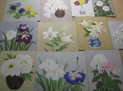 花の日本画たち