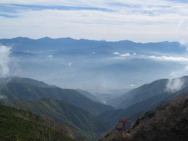 南アルプス連峰 富士山