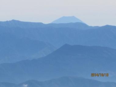 南アルプス連峰 富士山アップ