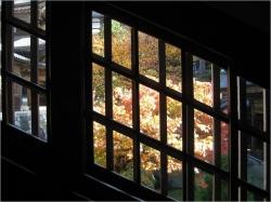 回廊の斜め窓