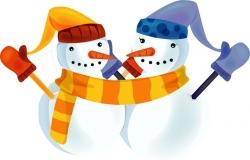 雪だるま クリップアート