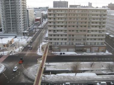 札幌の街 ホテル10階から展望