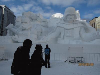 大雪像 雪のスター・ウォーズ