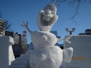 雪像 オラゆき オラフ