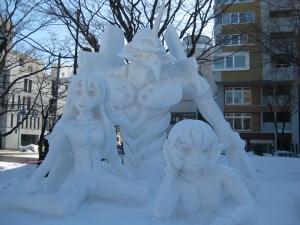 雪像 エヴァンゲリオン・発信