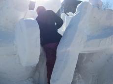 雪像制作中 2