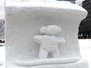 オーストラリアチーム 雪像
