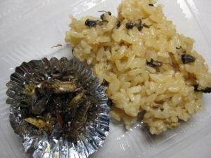 ヘボご飯と昆虫の佃煮