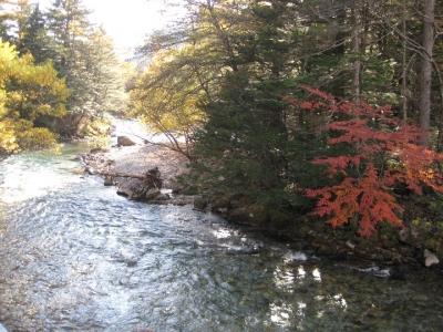 田代橋上から見た梓川下流