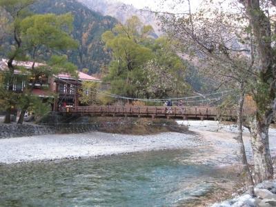 梓川左岸から見た河童橋