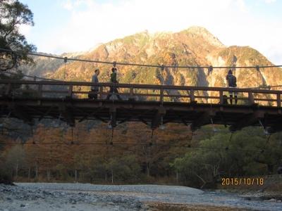 河童橋を渡る人たち