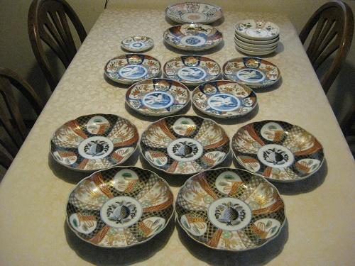 アンティーク伊万里色絵の皿