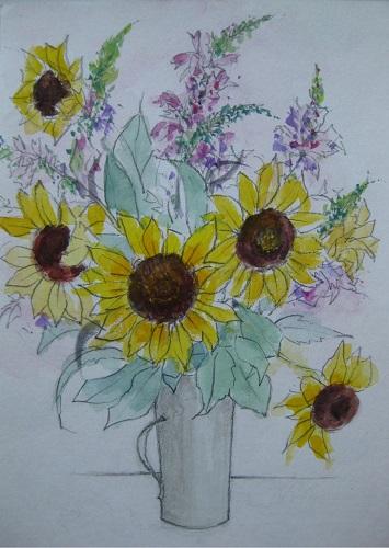 ミニヒマワリ 生け花