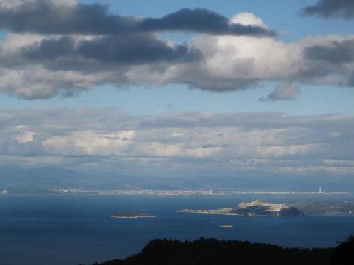 四方指展望台から見た播州赤穂,家島