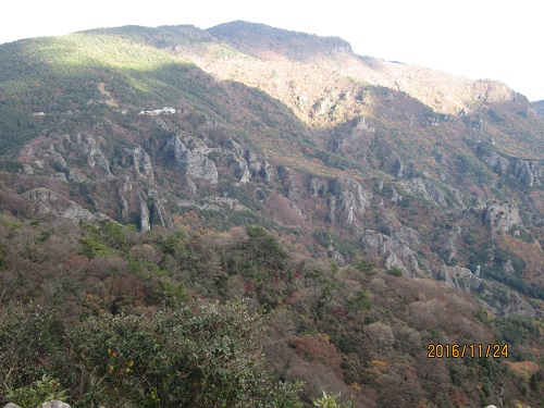 四方指展望台から見た寒霞渓,星ヶ城山