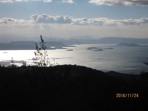 四方指展望台から見た高松方面