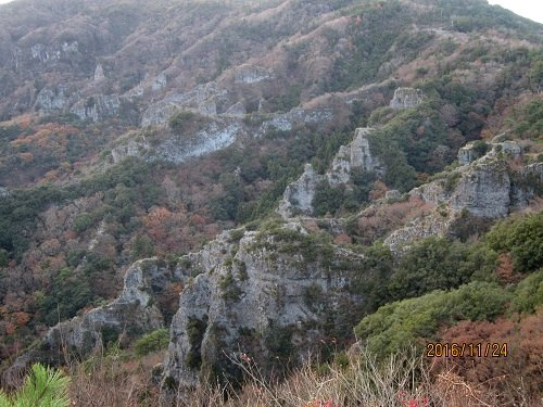 寒霞渓溶岩の風景