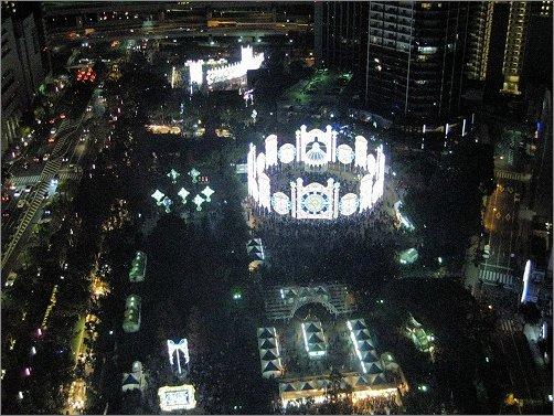 神戸ルミナリエ 東遊園地の全景