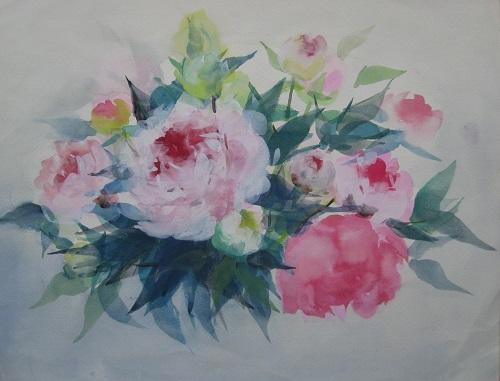 芍薬の水彩画