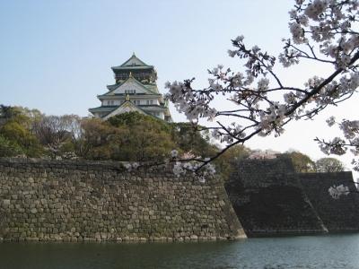 大阪城の掘の石垣