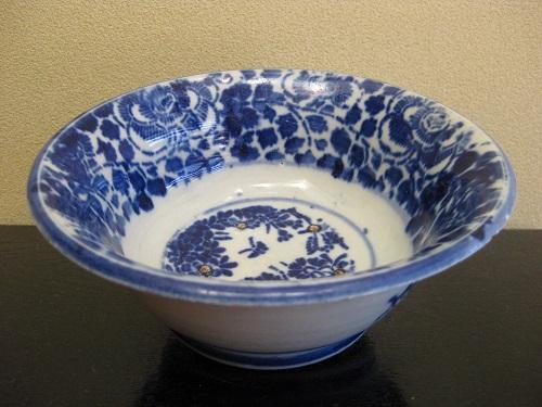 アンティークの藍の雑器・小鉢