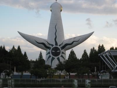 太陽の塔の背面 黒い太陽