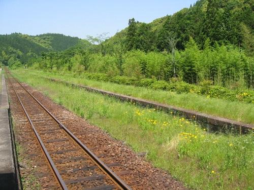 嘉例川駅 線路 風景